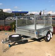 7x5 Heavy Duty Galvanised Rolled Body Caged Trailer Port Lincoln Region Preview