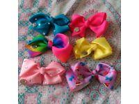 Bundle of 6 JoJo Hair Bows, Girls Accessories