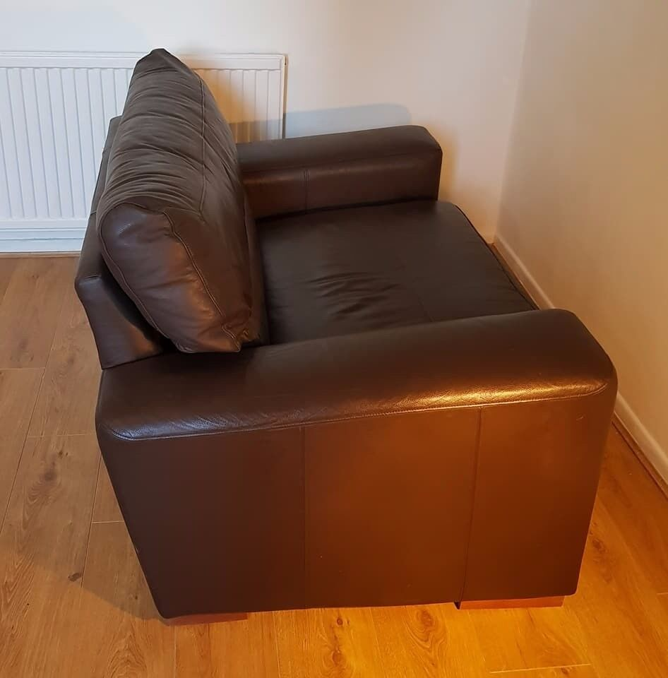 Next Real Leather nearly new Snuggle Chair