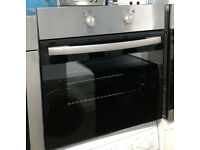 *709 stainless steel single electric oven comes with warranty can be delivered or collected