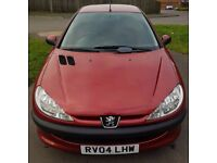 PEUGEOT 206 04 / 2004 PETROL 1.1 MANUAL 2 DOOR HATCH BACK * FIRST CAR * LOW CC ** SMALL ENGINE **