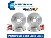MTEC Grooved and drilled front discs and mintex pads