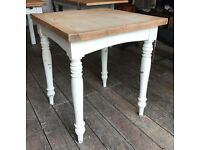 Painted Pine Table - Distressed/ Shabby Chic
