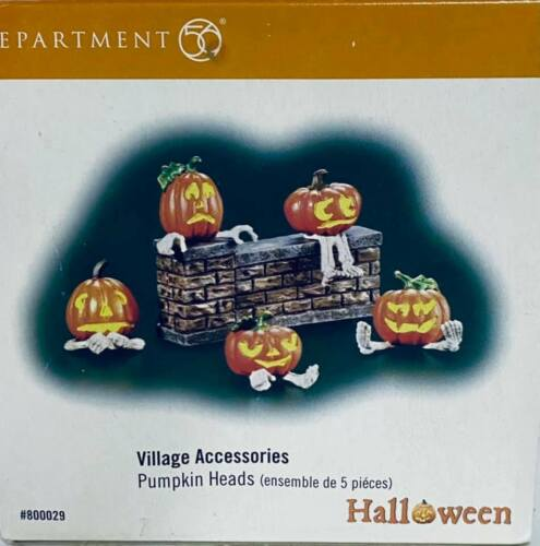 Department 56 Snow Village Halloween Pumpkin Heads 800029 (Retired 2011)