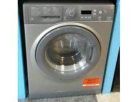 g231 graphite hotpoint 7kg 1200spin washing machine come with warranty can be delivered or collected