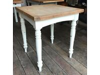 Painted Pine Table- Distressed/ Shabby Chic