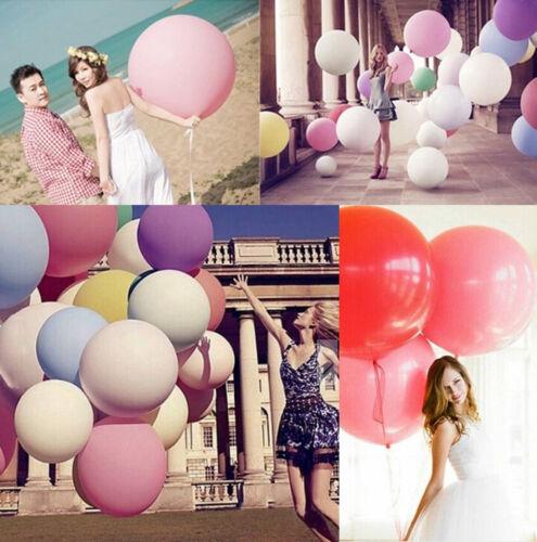 "Multi-Color 36/"" Inch Giant Big Ballon Latex Birthday Wedding Party Helium Decor"