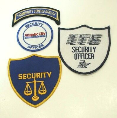 Set 3 Collectible Embroidered Patches Security Community Service Atlantic City