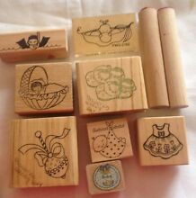 New baby wood mounted rubber stamps Doveton Casey Area Preview