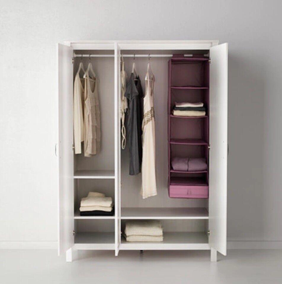 ikea brusali wardrobe 3 doors 80 - Wardrobe Ikea