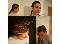 Mobile hairstylist Shani's style