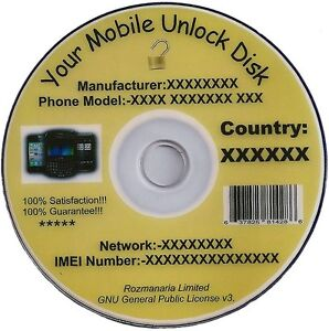 Mobile Phone Unlock/Unlocking Software CD/DVD Disk and Mobile Unlock Codes 8GB.