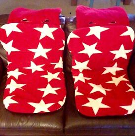 Star Fleece Footmuffs - fits out n about nipper