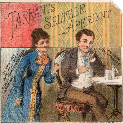 TARRANTS SELTZER APERIENT Metamorphic Trade Card 1880