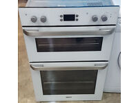 f213 white beko integrated built in double oven comes with warranty can be delivered or collected