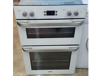 b213 white beko integrated built in double oven comes with warranty can be delivered or collected
