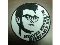 Brand new embroidered sew on patch, The Smiths Heaven Knows Im Miserable Now, Indie Alternative