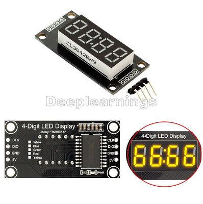 Yellow 0.56 Inch Tm1637 4-bits Digital Led Clock Tube Display For Arduino Dp