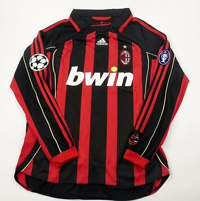 4668413872f AC MILAN HOME RETRO SHIRT 2006-07 UCL