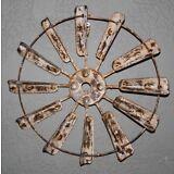Vintage Style Metal WINDMILL FAN Blade Farm Barn Rustic Man Cave Western Shabby