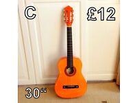 Acoustic Guitar (C) 30 ins- Junior Size
