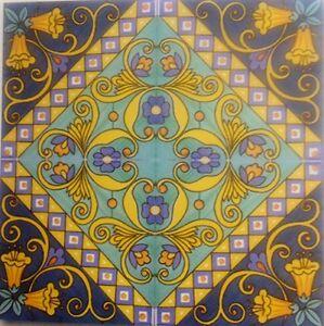 Piastrelle 20x20 decorate a mano ceramica vietri 1 mq ebay - Piastrelle decorate a mano ...