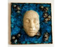 Ceramic Mask - Wall Art Home Decoration - Narcissus