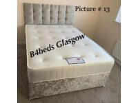 Brand new complete divan bed in crush velvet