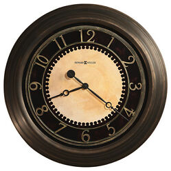 HOWARD MILLER 25.5' BRUSHED BRASS FINISH WALL CLOCK 625-462 CHADWICK