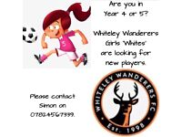 Players Wanted - Girls Football