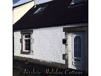 Ayrshire Holiday Cottage, Short Break Holiday, Short Term Let