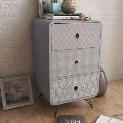 Vintage Industrial Side Table Retro Bedroom Furniture Bedside Cabinet Stand Unit