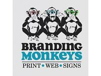 Print, design, web and full signage for shops and vehicles