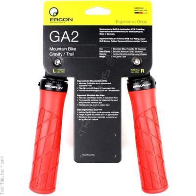 af20de3fbda Ergon GA2 Ergo Lock-On Handlebar Bike Grips for MTB Trail Hybrid - Red