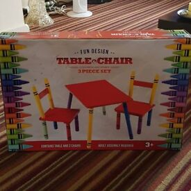 brand new kids table and chair set