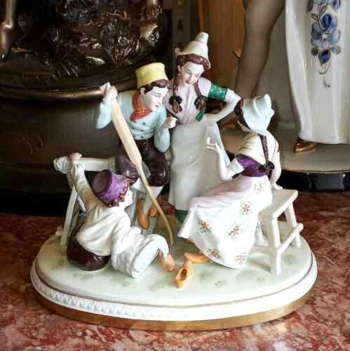 Antique German Scheibe-Alsbach Porcelain Grouping.