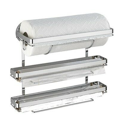 Wenko, MagicLoc kitchen roll holder Trio for 3 different rolls, Silver shiny