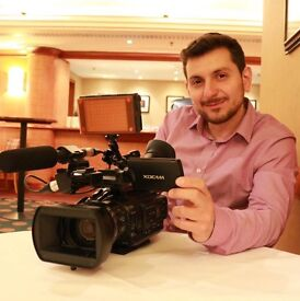 Television Cameraman in London, Excellent Camera Work