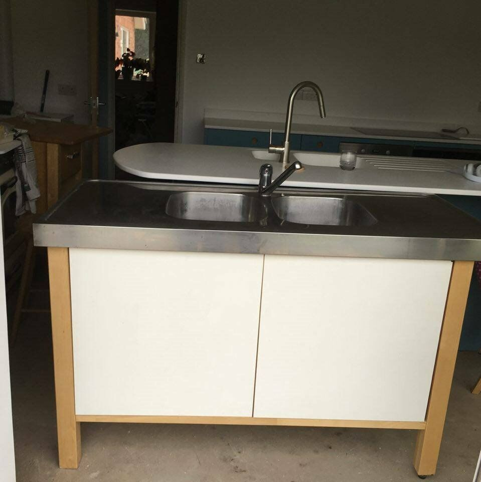 Kitchen Shelf Gumtree: Ikea Varde Double Sink Unit & Tap