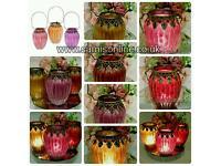 Moroccan Arabian Vintage Pumpkin Ornate Tealight Candle Lantern Holders Set of 3