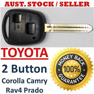 REMOTE KEY SHELL TOYOTA 2 BUTTON Rav4 Corolla Camry Prado Celica ** FAST POST **
