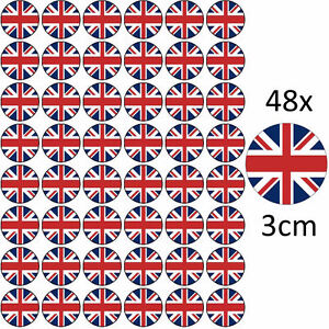 48-x-UNION-JACK-FLAG-EDIBLE-RICE-FAIRY-CUP-CAKE-TOPPERS-UK-GREAT-BRITAIN