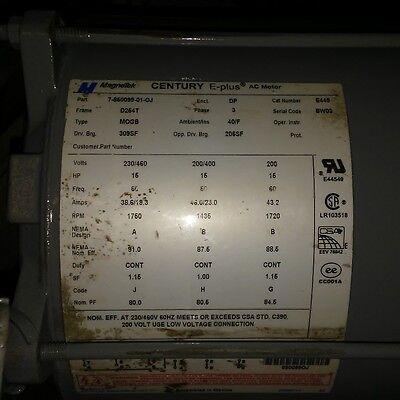 15 Hp D264t Frame 1435-1760 Rpm 200-460 Volt Ac Motor