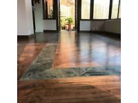 Wooden floor restoration, sanding and finishing in Leicestershire and central England