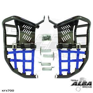 Kawasaki-KFX-700-KFX700-Nerf-Bars-Pro-Peg-Alba-Pro-Elite-Blk-Blue-200-T7-BL
