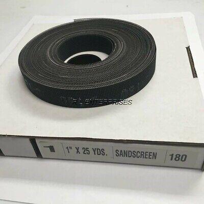 1 X 25 Yards Sandscreen 180 Grit Open Weave Plumbers Mesh Roll
