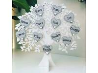 Free standing wooden family tree