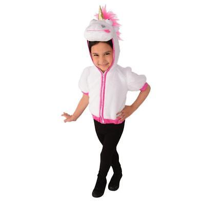 Despicable Me Agnes Dress Up Fluffy Unicorn Costume Role Play Hooded Top  - Despicable Me Agnes Costume