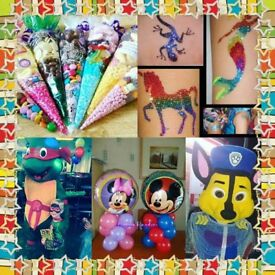 mascot character entertaining dj face painting glitter tattoos everything for your party