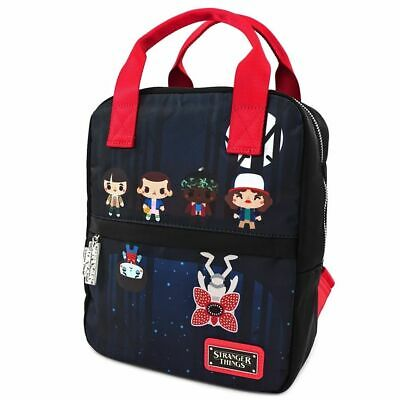 LOUNGEFLY STRANGER THINGS POLY NYLON SQUARE CHIBI BACKPACK NFXBK0041 - TAGGED